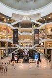 Pavillion Shopping Mall Kuala Lumpur. A modern light building. KUALA LUMPUR, MALAYSIA - 02 NOV 2014: Pavilion shopping mall, many fashion outlets in a modern Royalty Free Stock Photos