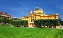 Pavillion van de kunst in Zagreb Royalty-vrije Stock Foto's