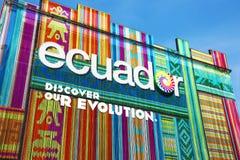 Pavillion van Ecuador in Expo 2015, Milaan Stock Fotografie