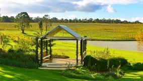 Pavillion in a vineyard Stock Image
