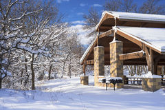 Pavillion in winter Royalty Free Stock Photo