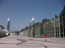 Pavillions de l'expo '98 au Portugal Images libres de droits