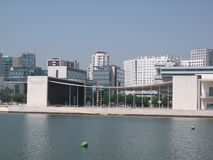Pavillions of Expo '98 in Portugal Royalty Free Stock Photo