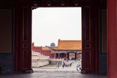 Pavillon à la ville interdite Pékin La Chine photo libre de droits