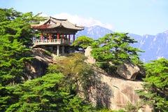 Pavillon antique sur des montagnes de Kumgangsan, Corée du Nord DPRK photos stock