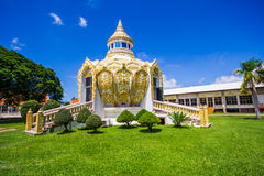 Pavillon (argent de père saint de la BO de batte) Wat Yang Khoi Kluea chez Phichit Thaïlande Image stock