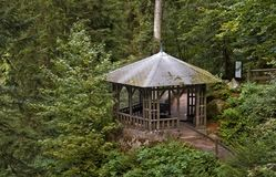 Pavillon around Triberg Waterfalls Stock Images