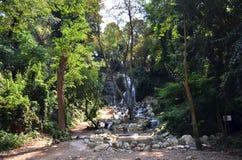 Pavillon artificiel de cascade de Khedive Images libres de droits
