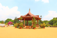 Pavillon au musée de Napier Thiruvananthapuram Image stock