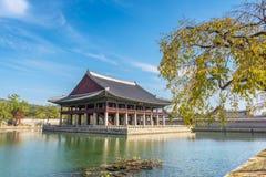 Pavillon au palais de Gyeongbokgung à Séoul, Corée Photo stock