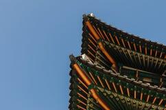 Pavillon au palais de Gyeongbokgung à Séoul, Corée Images libres de droits