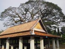 Pavillon au temple thaïlandais, Koo Tao Temple, Songkhla, Thaïlande Images libres de droits