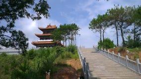 Pavillon auf dem Berg Stockfoto