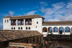 Pavillon av Generalife i det Alhambra komplexet Royaltyfri Foto