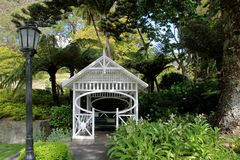 Pavillon in the Botancial Garden in Wellington Stock Photography