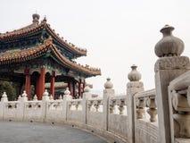 Pavillon chinois en parc de Beihai photo libre de droits
