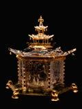 Pavillon chinois par la glace inc. de steuben. Images libres de droits