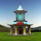 Pavillon chinois, relaxation, méditation photo stock