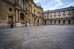 Pavillon Colbert, at the Louvre Palace, in Paris, France. Royalty Free Stock Images