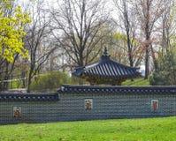 Pavillon coréen de jardin photographie stock libre de droits