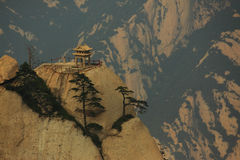 Pavillon d'échecs sur la montagne Huangshan Photos stock