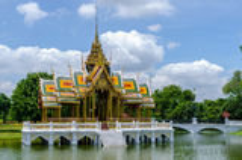 Pavillon d'Aisawan-Dhipaya-Asana, palais de douleur de coup, Thaïlande Photo stock