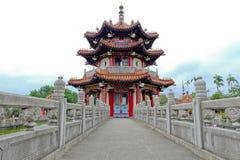 Pavillon d'architecture chinoise 228 à la paix Memorial Park Images libres de droits
