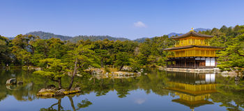 Pavillon d'or de Kinkakuji, Kyoto, Japon (temple de zen) Image stock