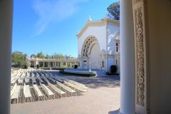 Pavillon d'organe de Spreckels en parc de Balboa, San Diego photographie stock