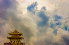 Pavillon dans le ciel Photo libre de droits