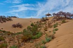 Pavillon dans le désert Images stock