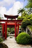 Pavillon dans un beau jardin chez Monte au-dessus de Funchal Madère Photographie stock libre de droits