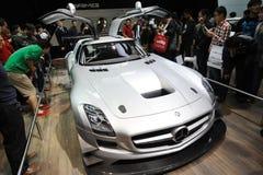Pavillon de benz de Mercedes, SLS AMG GT3 Image libre de droits