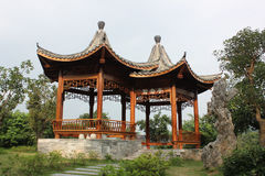 Pavillon de canards de mandarine Photo libre de droits