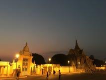 Pavillon de clair de lune la nuit photos libres de droits