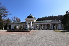 Pavillon de colonnade de Marianske Lazne photos libres de droits
