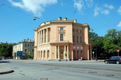 Pavillon de corps de garde de château de Mikhailovsky (ingénieurs), St Petersburg Image stock