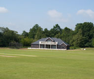 Pavillon de cricket Photo stock