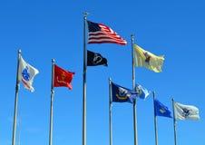Pavillon de drapeau de New Jersey de mémorial de Guerre de Corée Images libres de droits