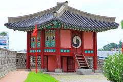 Pavillon de forteresse de Hwaseong d'†de sites de patrimoine mondial de l'UNESCO de la Corée « Photographie stock libre de droits