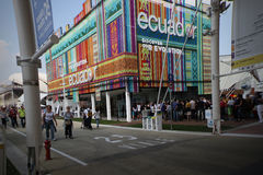 Pavillon de l'Equateur à l'expo 2015 en Milan Italy Photos stock