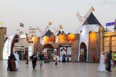 Pavillon de l'Espagne au village global à Dubaï Photos stock