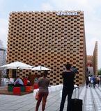 Pavillon de la Pologne, expo 2015 Photo stock
