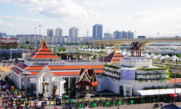 Pavillon de la Thaïlande dans Expo2010 Changhaï Chine Image stock