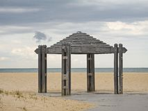 Pavillon de plage Photos libres de droits