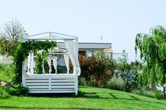 Pavillon de plage photo stock