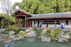 Pavillon de promenade en parc de huanhuaxi, adobe RVB images libres de droits