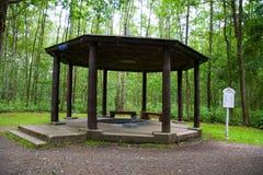 Pavillon de ressort d'eau minérale Glauber II -› kovy de znÄ de ¡ du ¡ LÃ de FrantiÅ photographie stock libre de droits
