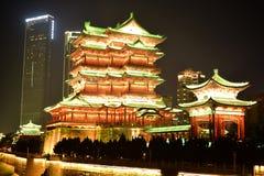 Pavillon de teng de prince la nuit Image libre de droits