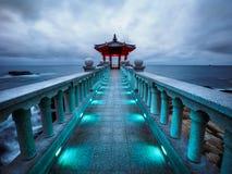 Pavillon de Yeonggeumjeong contre un ciel orageux Photo libre de droits
